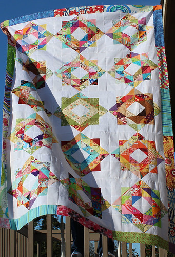 Scrappy Depression Block quilt top