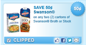 Swanson Broth Or Stock Cartons Coupon