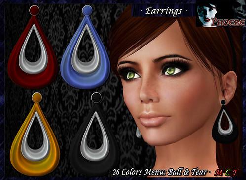 *P* Alexia Earrings 1 ~Colors Menu~