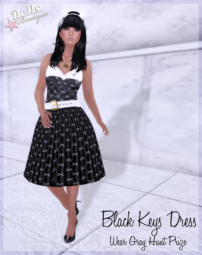 Black Keys Dress - Wear Gray Exclusive