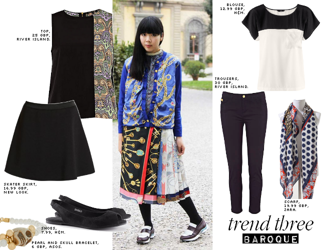 daisybutter - UK Style Blog: ways to wear, SS12 trends, baroque, silk, scarf print, river island, zara, stylebubble, susie bubble