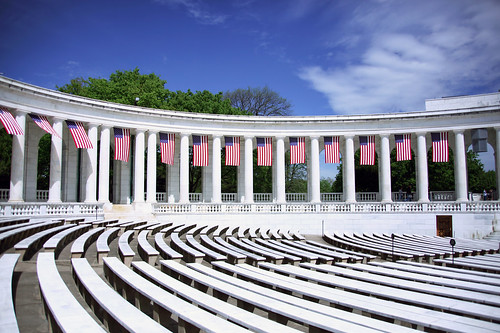 Memorial Amphitheater - south colonnade 02 - Arlington National Cemetery - 2012