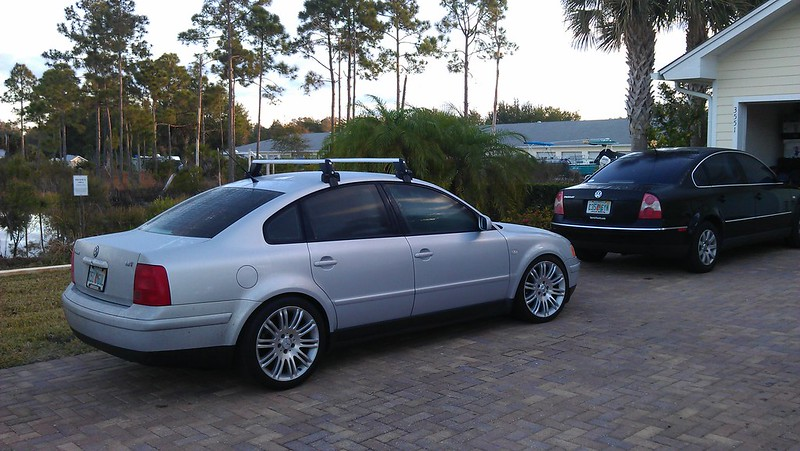 "B5 Passat with w211 18"" wheels"
