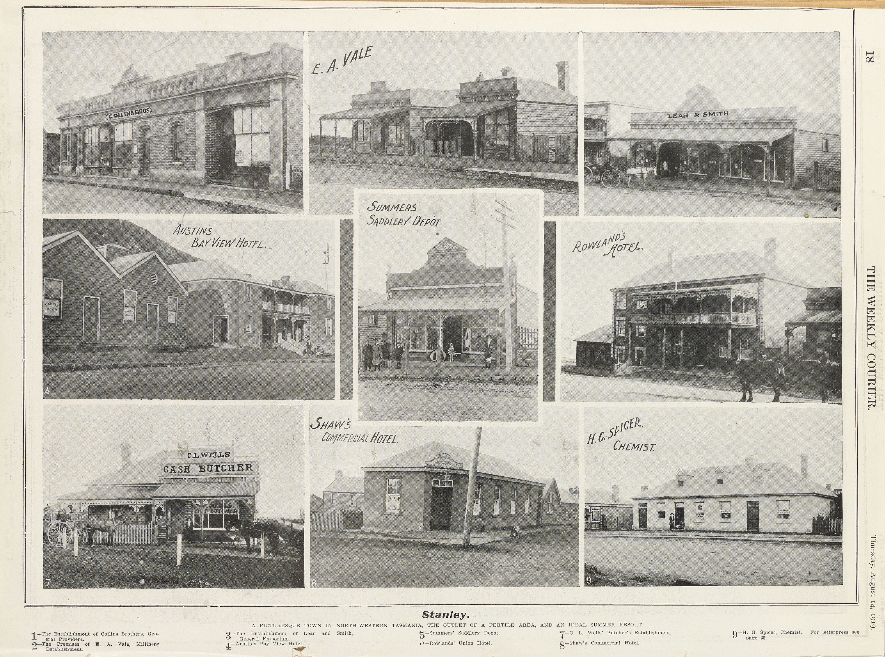 Stanley, Tasmania (1919)