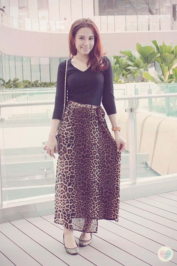 shai lagarde shailagarde lovechic love chic fashion blog style blogger marc coblen watches century city mall DIY event launch pixrepublik leopard print maxi skirt wristwatch 11