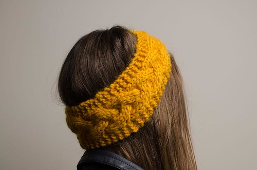 Yellow Cable Headband