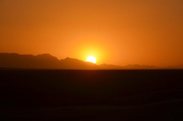 Puesta de sol en el Sahara