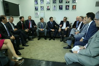 Líderes do Solidariedade participam de reunião de pauta da Câmara