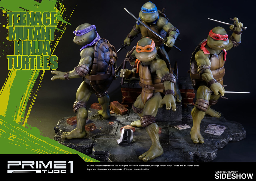 Prime 1 Studio【1990 忍者龜。Sideshow 限定】Teenage Mutant Ninja Turtles 1/4 比例全身雕像