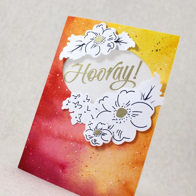 Floral Hooray Card