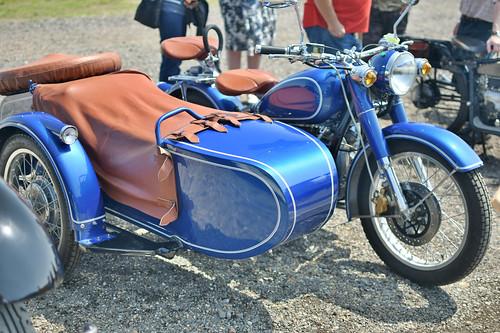 Vintage Motorcycle and Sidecar