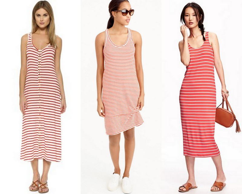 Striped Tank Midi Dress