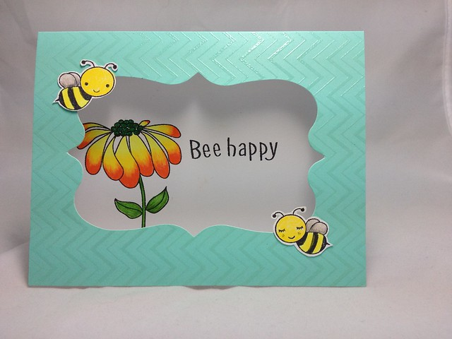 Bee happy chevron