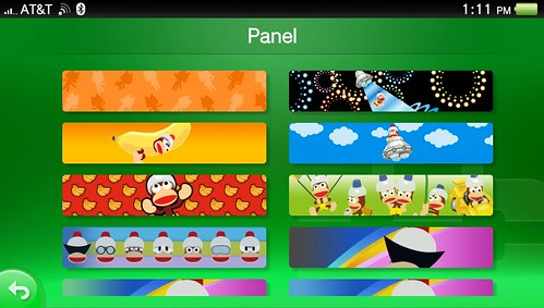 PlayStation Vita PSN Panel Menu