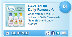 Daily Renewal Naturals Brand Baby Product. Coupon