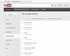 YouTube Zoekgeschiedenis