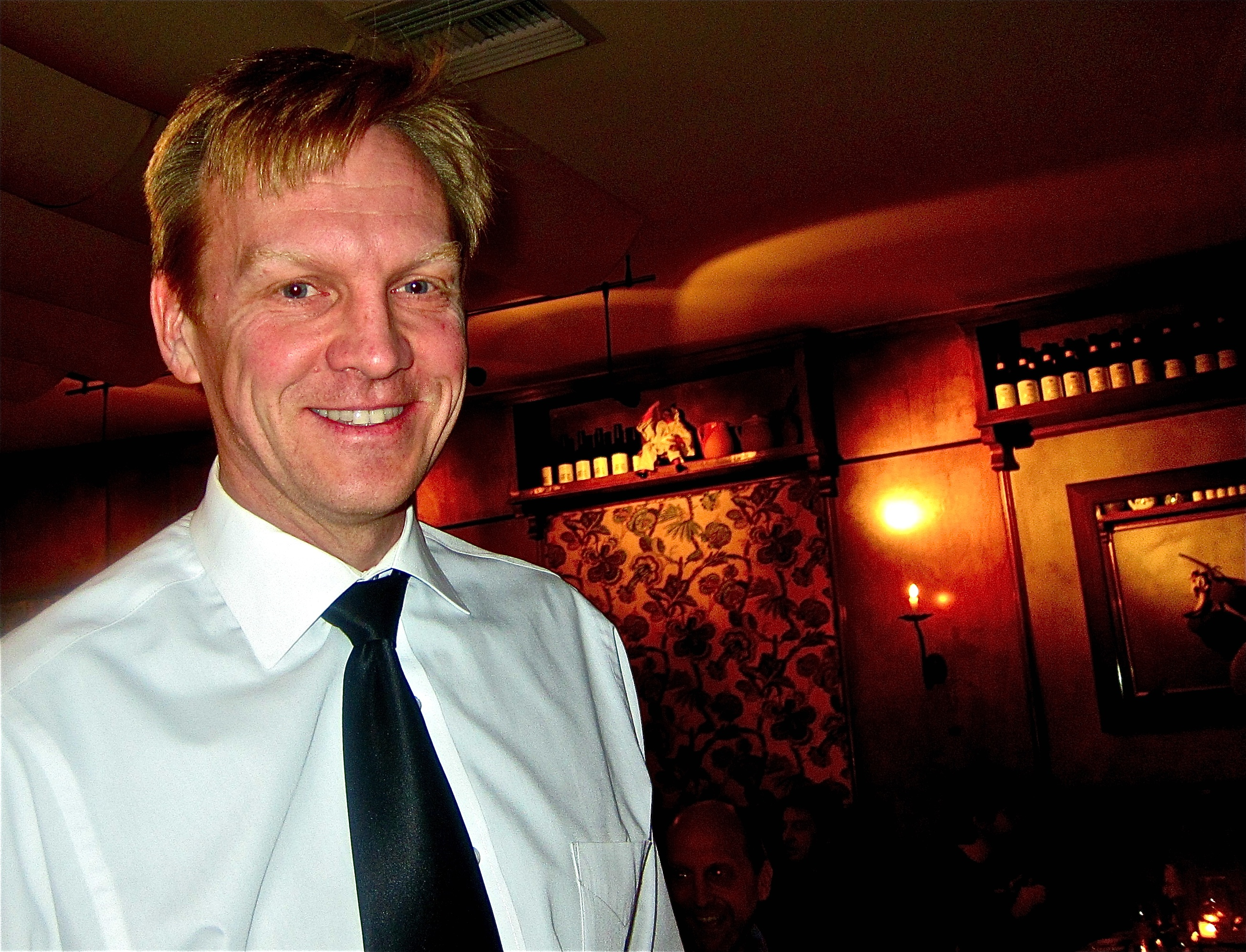 andrea, manager,head waiter and 'the man'