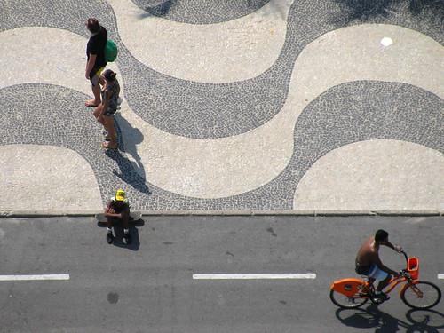 Vereda y ciclovía de Copacabana
