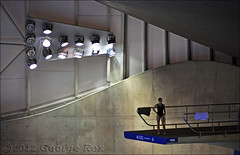London Aquatics Centre / wall lighting