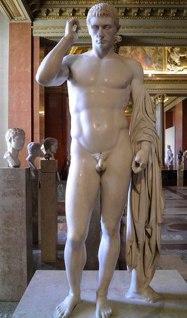 Funerary statue of honor of Marcellus, nephew and first son-in-law of Augustus, c. 20 BC, Louvre Museum