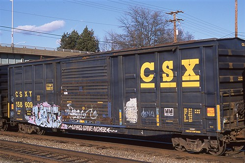 Live - on CSXT 158609 at Richmond VA Jan 29, 2012