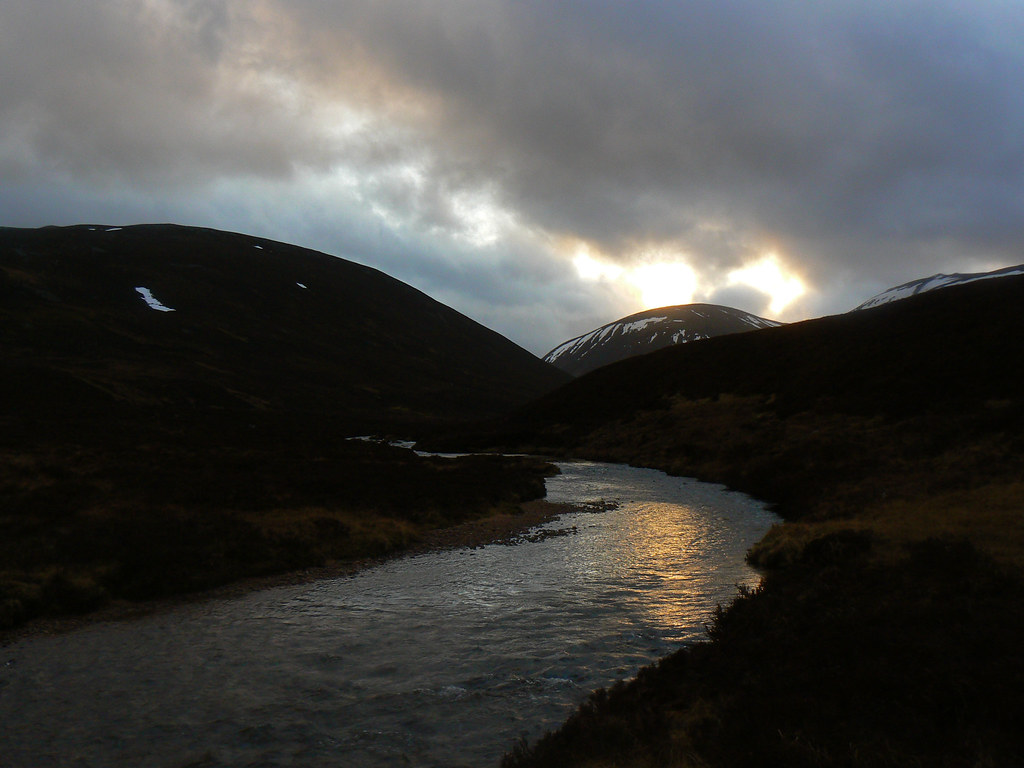 Last light over the River Gairn