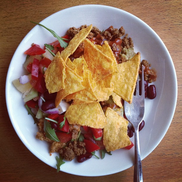 #lunch #leftovers #food #nachos #texmex #spicy