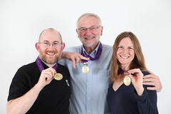 Dave, Alana, and Gary with their Marathon Medals