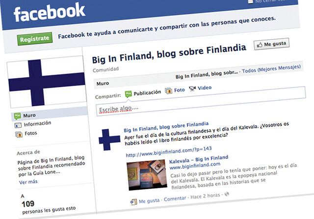 Big in Finland en Facebook