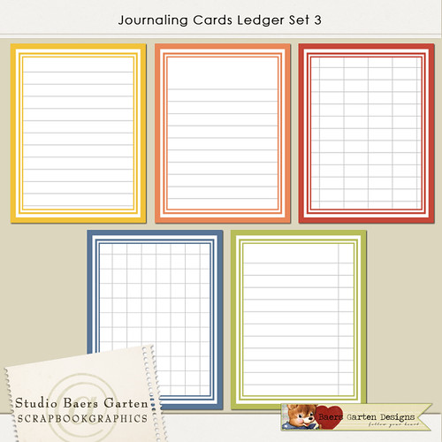 Journaling Cards Ledger Set 3