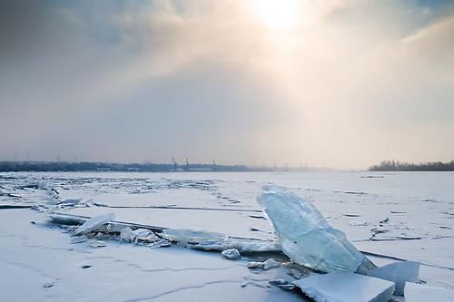 ice dnieper запорожье днепр zaporozhie