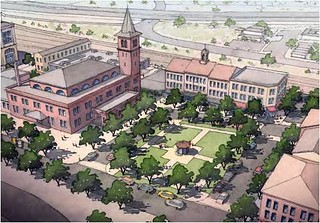 planning vision for depot area, El Paso (courtesy of Dover Kohl)
