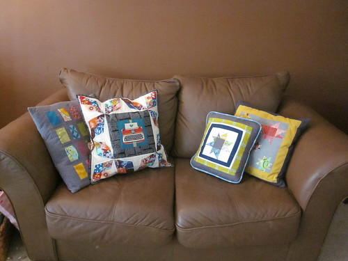 All my pillow talk swap pillows!