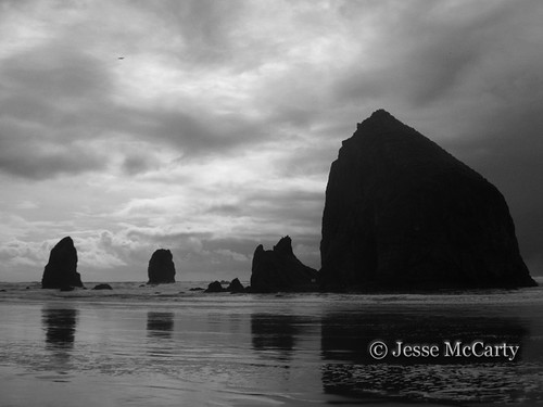 Canon Beach in Black and White