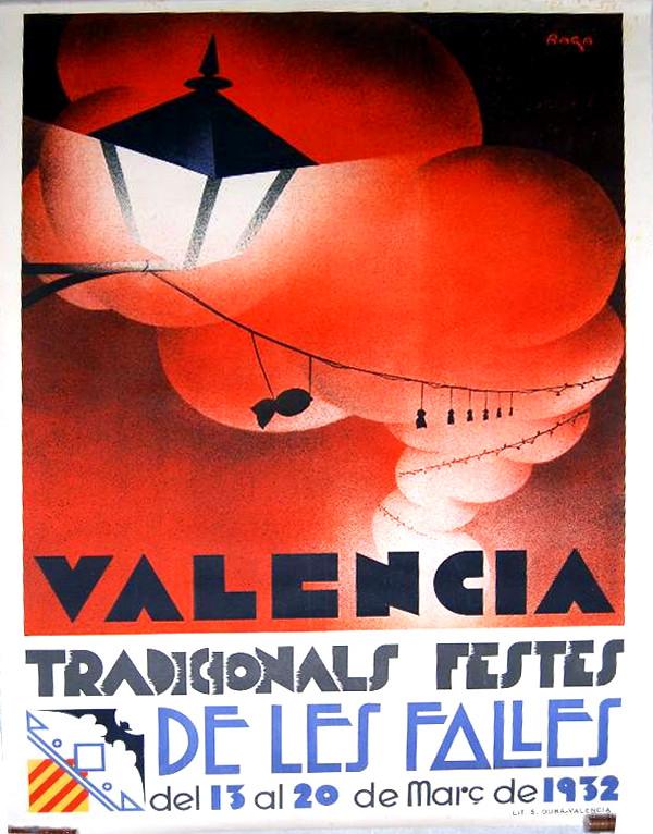 Cartel de las Fallas de Valencia de 1932