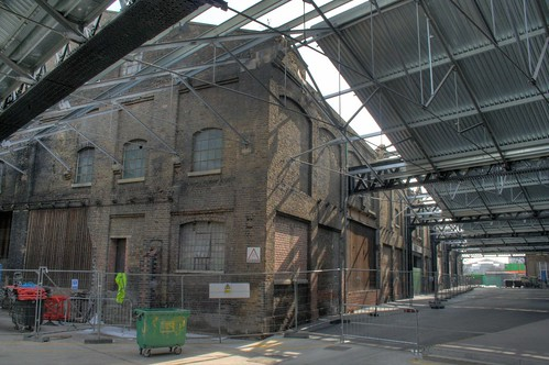 Rear of the goods shed