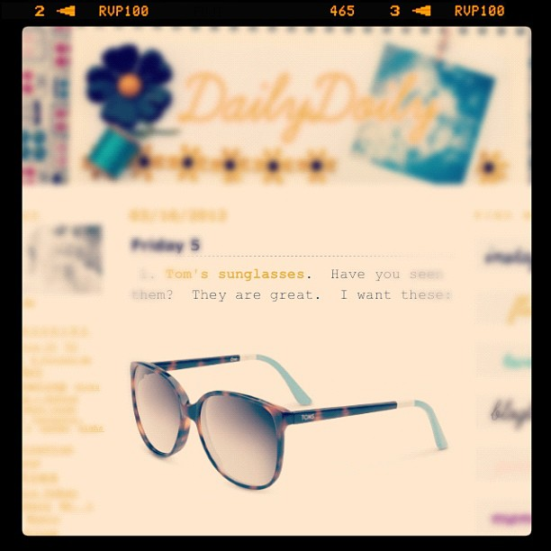 The #sunglasses that I want on my Friday 5 blog post #marchphotoaday #day16 https://dailydoily.typepad.com/peaceloveandcupcakes/2012/03/friday-5-1.html