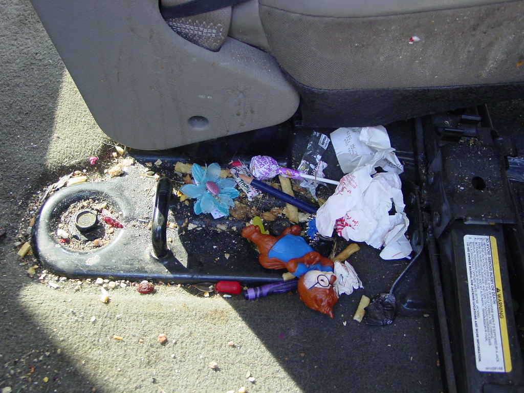 Kids' Garbage Under the Car Seats
