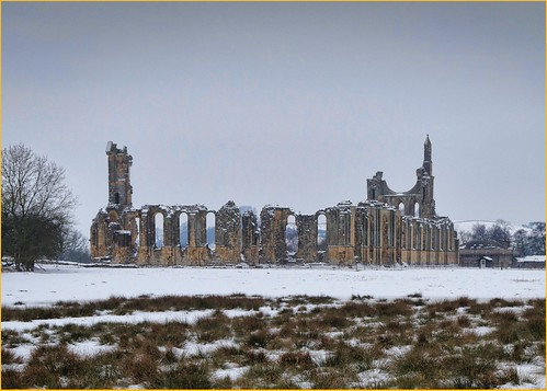 Byland Abbey in Snow