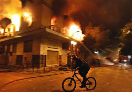 The Greek capital of Athens exploded amid the parliamentary debate over adoption of yet another round of austerity measures. The world capitalist crisis has hit the European state with a vengeance. by Pan-African News Wire File Photos