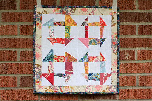 Wonky Churn Dash Mini Quilt