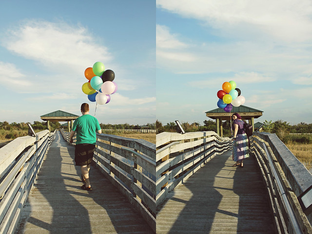 balloon shoot 10 diptych