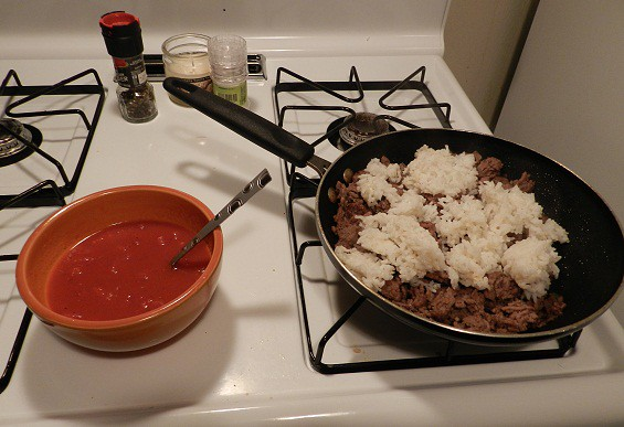 pepper sauce beef and rice