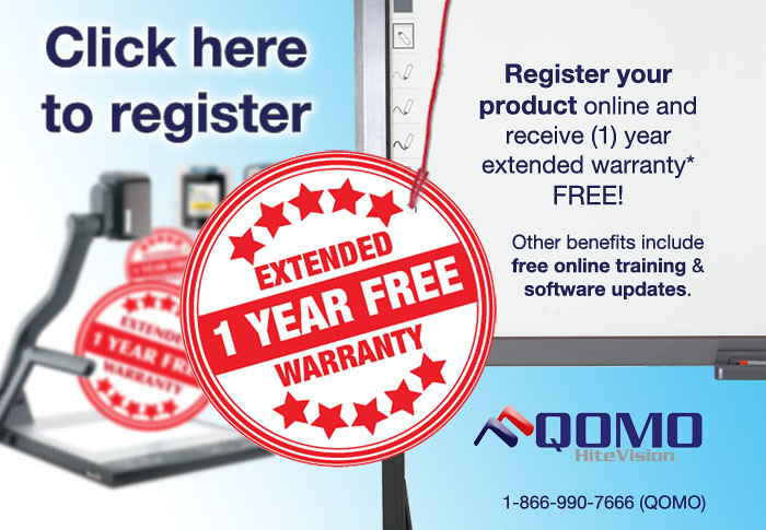 QOMO HiteVision Extended Warranty Registration