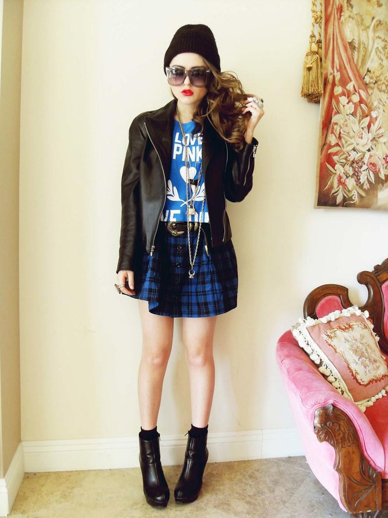 Tartan skirt - YES STYLE,