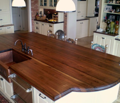 custom wood kitchen island top flickr photo sharing heritage wood island in black walnut modern kitchen