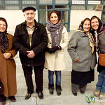 Iranian Family at Train Station - Tabriz, Iran