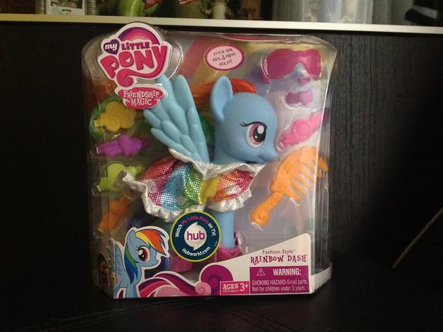 G4 rainbow dash toy for 7194 garden pond