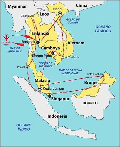 Mapa de Ruta Sudeste Asiático