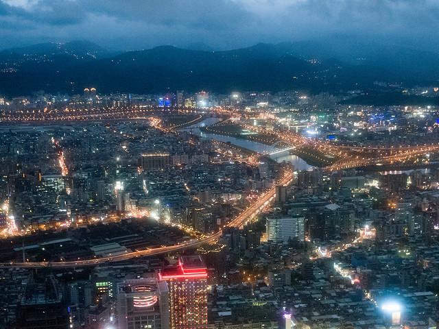 台北101からの夜景/Night view from Taipei 101